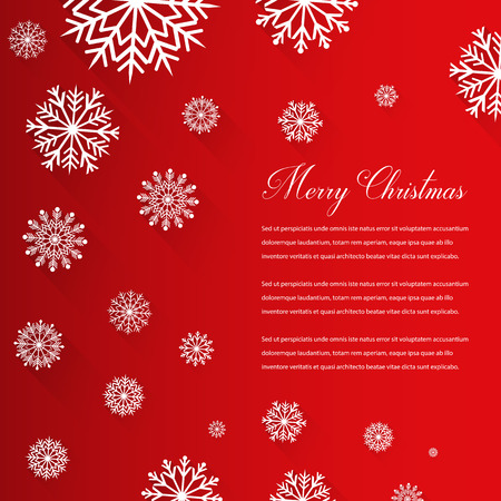 rime frost: Abstract Christmas card with snowflakes and wishing text. Vector illustration