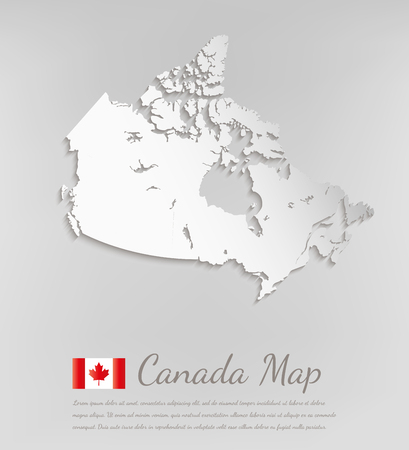 Canada Map. 3D Vector Map With Smooth Shadow. Royalty Free Cliparts ...