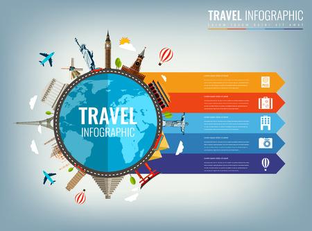 Infografica di viaggio. Infografica per affari, siti web, presentazioni, pubblicità. Concetto di viaggio e turismo.