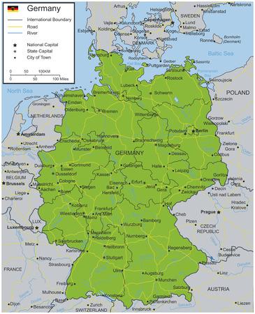 Niemcy Mapa miasta wybieralnych. ilustracji wektorowych