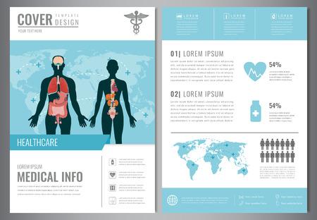 Medizinische Broschüre Design Vorlage. Gesundheitswesen Und ...