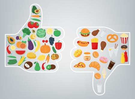 Concept de mode de vie sain. Nous sommes ce que nous mangeons. Vecteur Banque d'images - 78884090