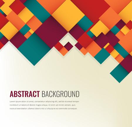 Abstrakter Hintergrund mit bunten Quadraten. Business-Design-Vorlage. Vektor Standard-Bild - 78855182