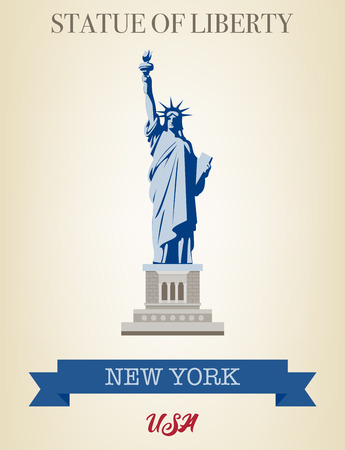Statue of Liberty. World landmark. American symbol. New York city. Vector Standard-Bild - 100756286