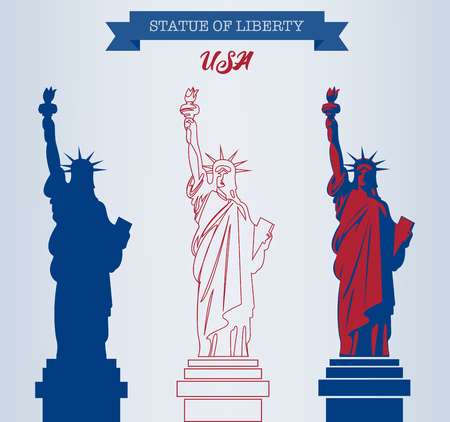 Statue of Liberty. World landmark. American symbol. New York city. Vector Standard-Bild - 100728083
