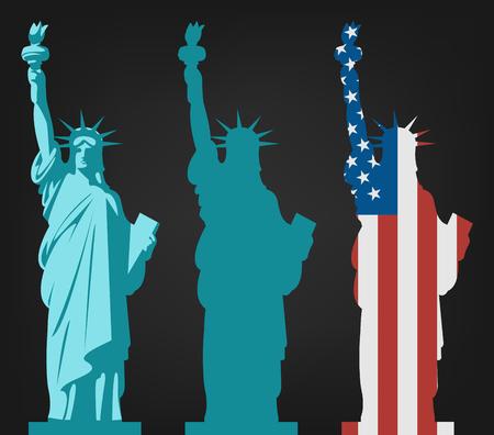 Statue de la Liberté. Point de repère mondial. Symbole américain. La ville de New York. Vecteur