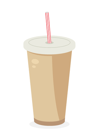 Soda icon. Fastfood isolated. Sweet food and junk food concept. vector