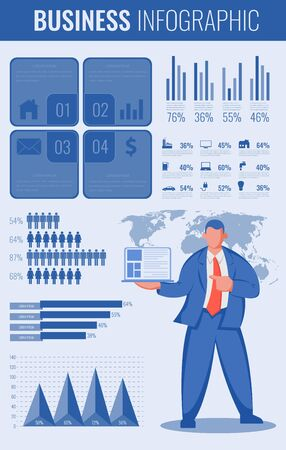 Infographic charts for business and presentations. Vector