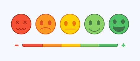 Emoji icons set. Emoticon for messenger, social media, web. Flat design. Vector 向量圖像
