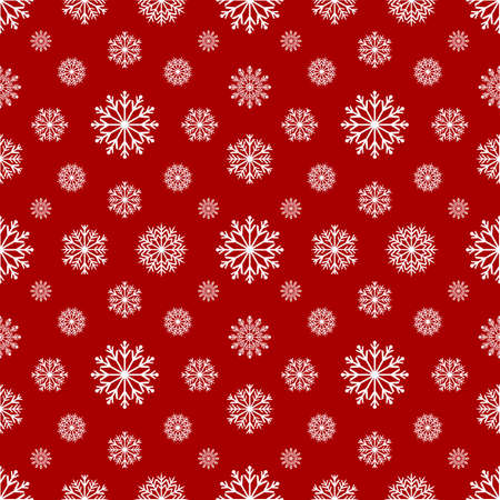 Snowflakes seamless pattern. Christmas background. Vector background