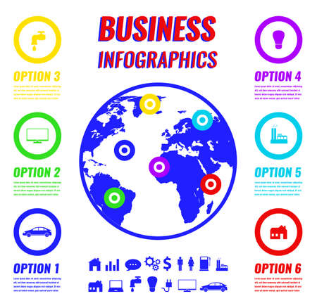 Infographics set for business and presentation. Minimalistic design style. Vector