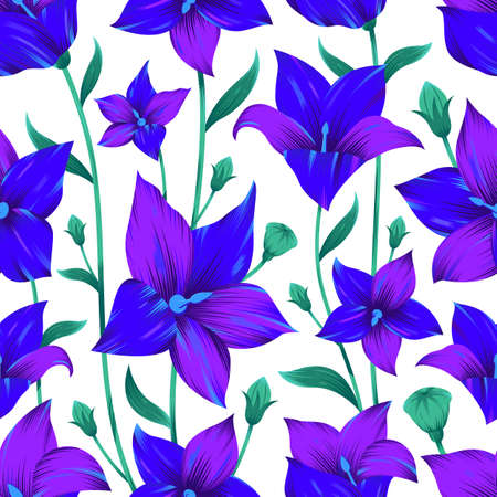 Modern flower seamless pattern for textile print. Floral pattern design. Vector