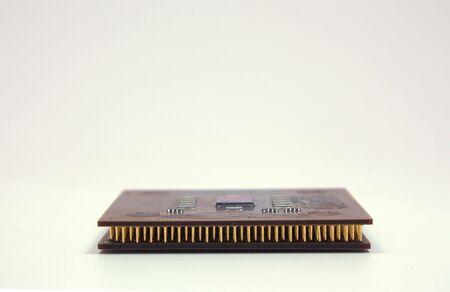 microprocesadores: dos microprocesadores aislados Foto de archivo