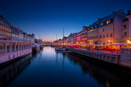 Nyhavn Copenhagen at sunset