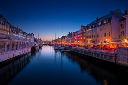 Nyhavn Copenhagen at sunset
