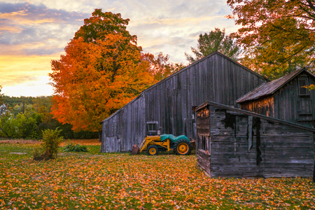 Farm in New Hampshire in Autumn