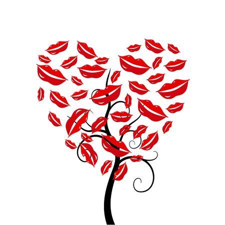 africa kiss: Love heart tree.