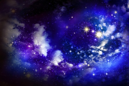 galaxy: Christmas star. Stars in the night sky.Christmas sky background.