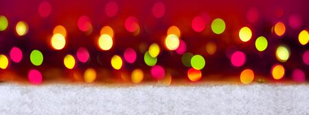 red and white: Colorful Bokeh Background.Abstract colorful bokeh background of christmas light. Christmas red background.