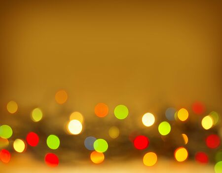 golden background: Colorful Bokeh Background.Abstract colorful bokeh background of christmas light. Christmas golden background. Stock Photo