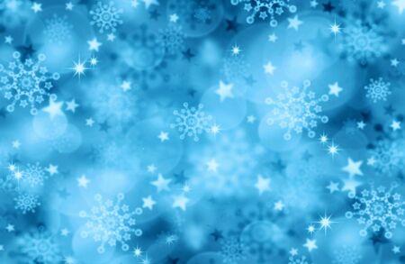 flocon de neige: Blue Christmas Background.Abstract bokeh fond color� de lumi�re de No�l. Banque d'images