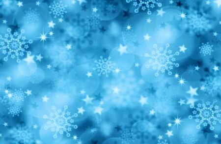 winter season: Blue  Christmas Background.Abstract colorful bokeh background of christmas light.