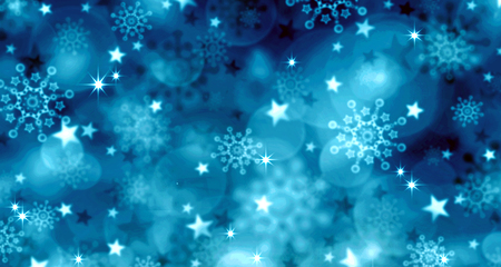 Blue  Christmas Background.Abstract colorful bokeh background of christmas light.