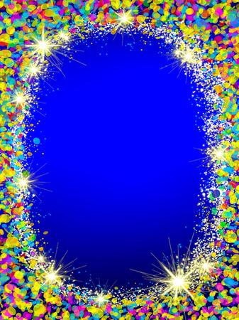 Colorful Christmas frame . Stock Photo