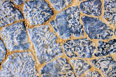 Background of stone wall texture .