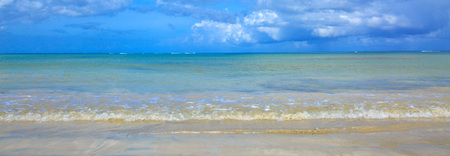 Tropical sea and blue sky background. Sommer ocean landscape as background.