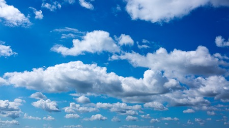 White clouds in blue sky.Summer nature background. 写真素材