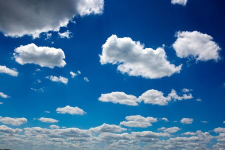 White clouds and blue sky background. Nature background.