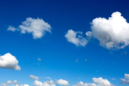 White clouds and blue sky background . Nature background.