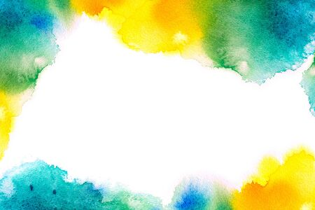 Colorful watercolor texture isolated on white background. Stock fotó