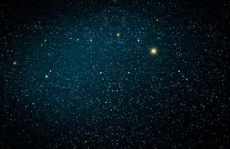 Christmas blue abstract stars sky. Christmas background.