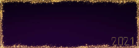 New Year 2021 background.Christmas violet abstract stars sky.