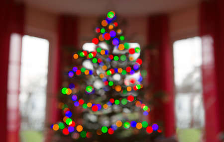 Christmas abstract blur background from Xmas tree