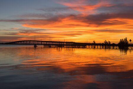 Eau Gallie Causeway Bridge at Sunrise