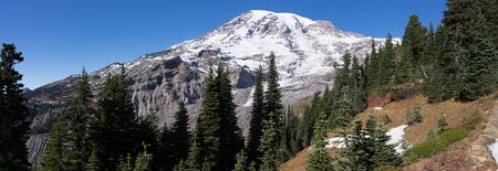 Mt Rainier as seen from the Paradise recreational area