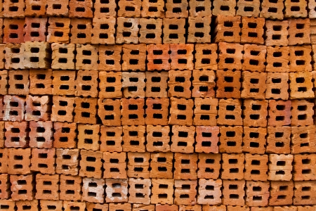brick kiln: Background with brick holes