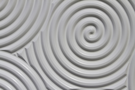 Surface-relief circular spiral,  Circular surface relief pattern in a classic and elegant feel to the boundless imagination