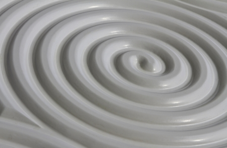 Circular pattern spiral relief,  Circular surface relief pattern in a classic and elegant feel to the boundless imagination  photo