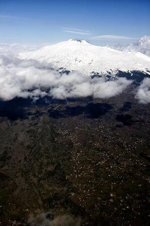 시칠리아의 에트나 산 화산