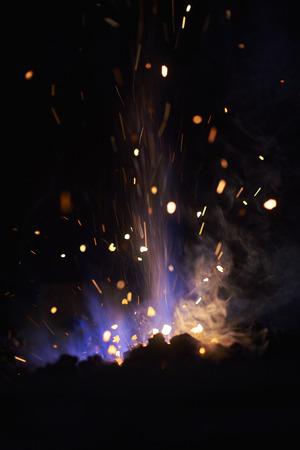 erupt: Warm fire Stock Photo