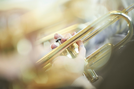 Young trumpet player