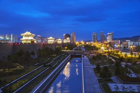 Night view of Datong ancient city Editorial