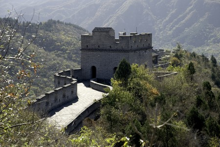 an empty section of the great wall of china Stock Photo - 4381445