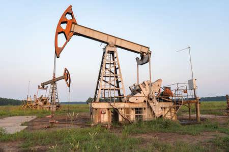 Oil pump at an oil field in Russia
