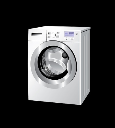 laundry washer: Lavadora Vectores