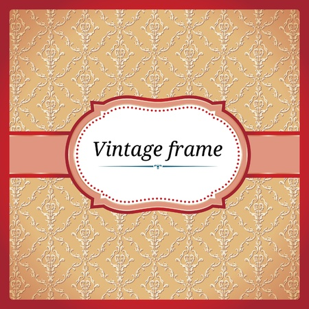 Red dotted ornamental frame Stock Vector - 10098096